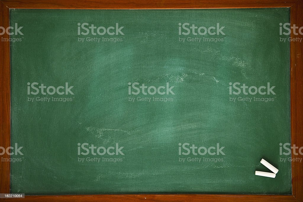 Green chalkboard with frame royalty-free stock photo