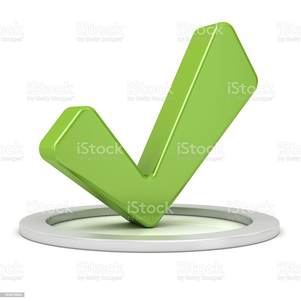 Green Check Mark royalty-free stock photo