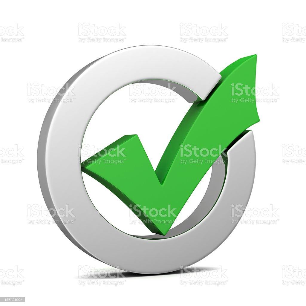 Green Check mark stock photo