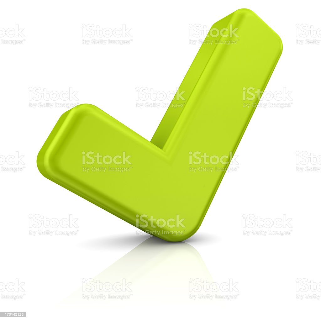 green check mark royalty-free stock photo