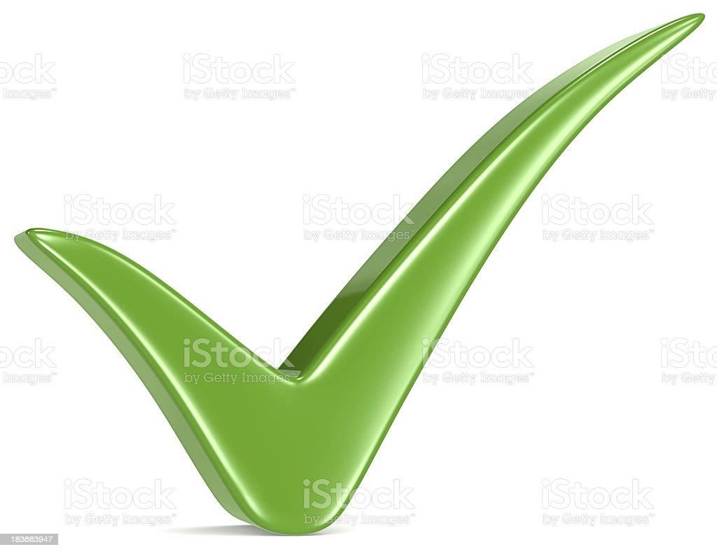Green Check Mark. royalty-free stock photo
