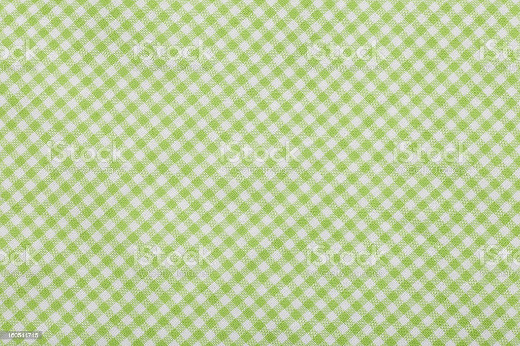 green Checkered tablecloth royalty-free stock photo