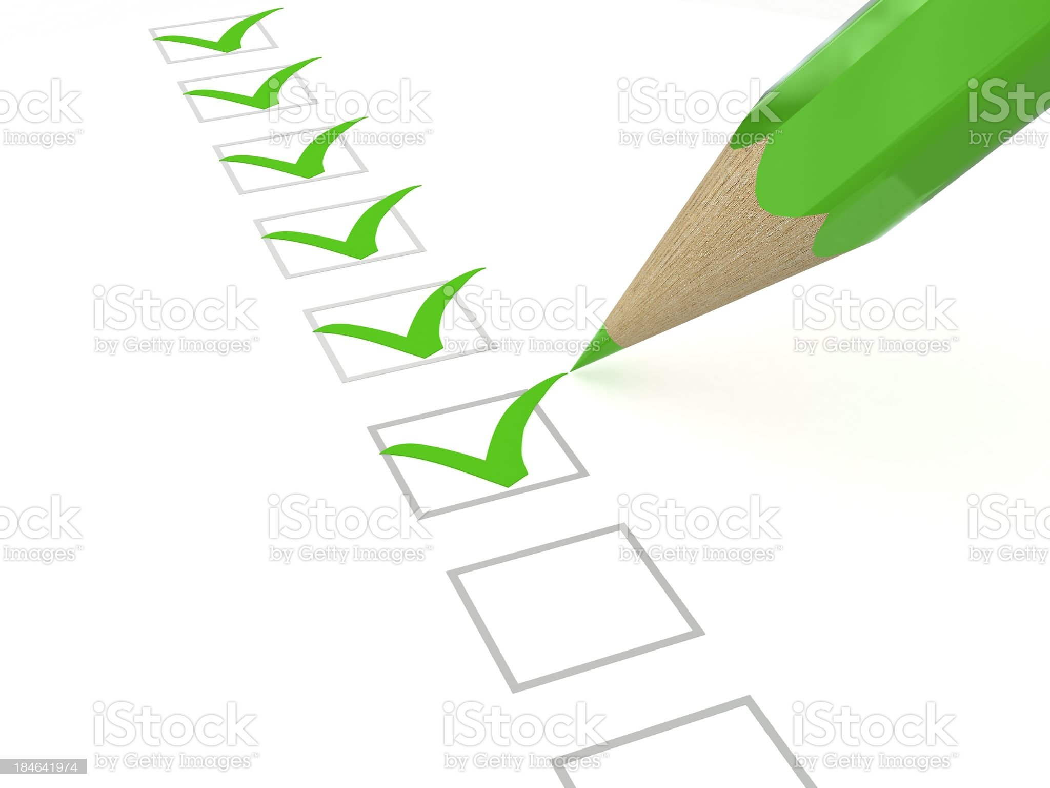 Green Checklist royalty-free stock photo