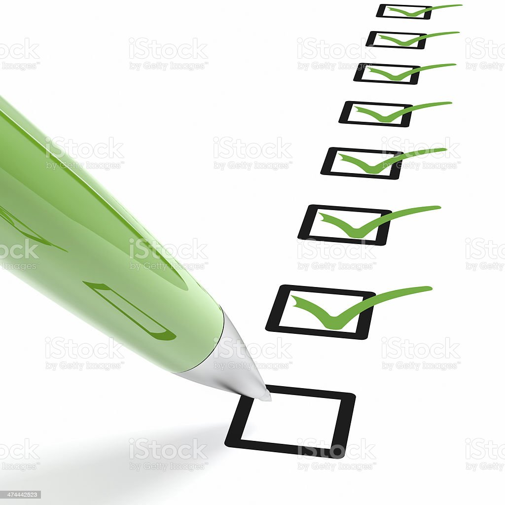 Green Checklist stock photo