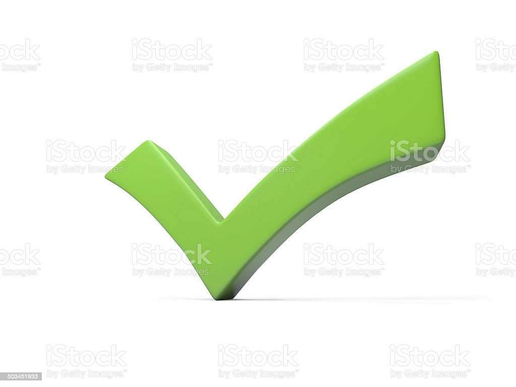 green checkmark stock photo