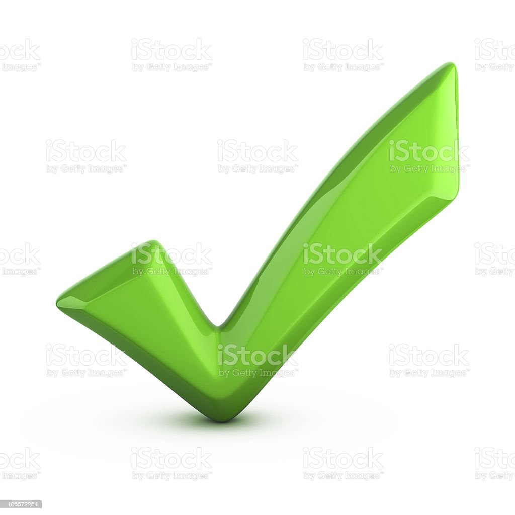 green checkmark, tick stock photo