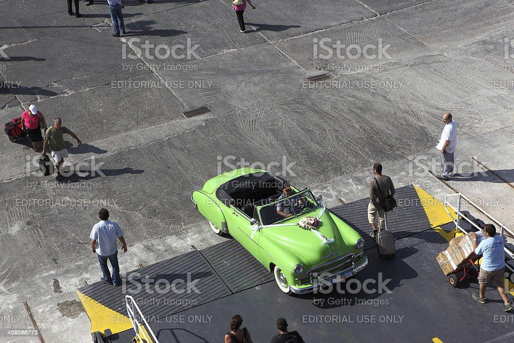 Green Chevrolet Deluxe stock photo