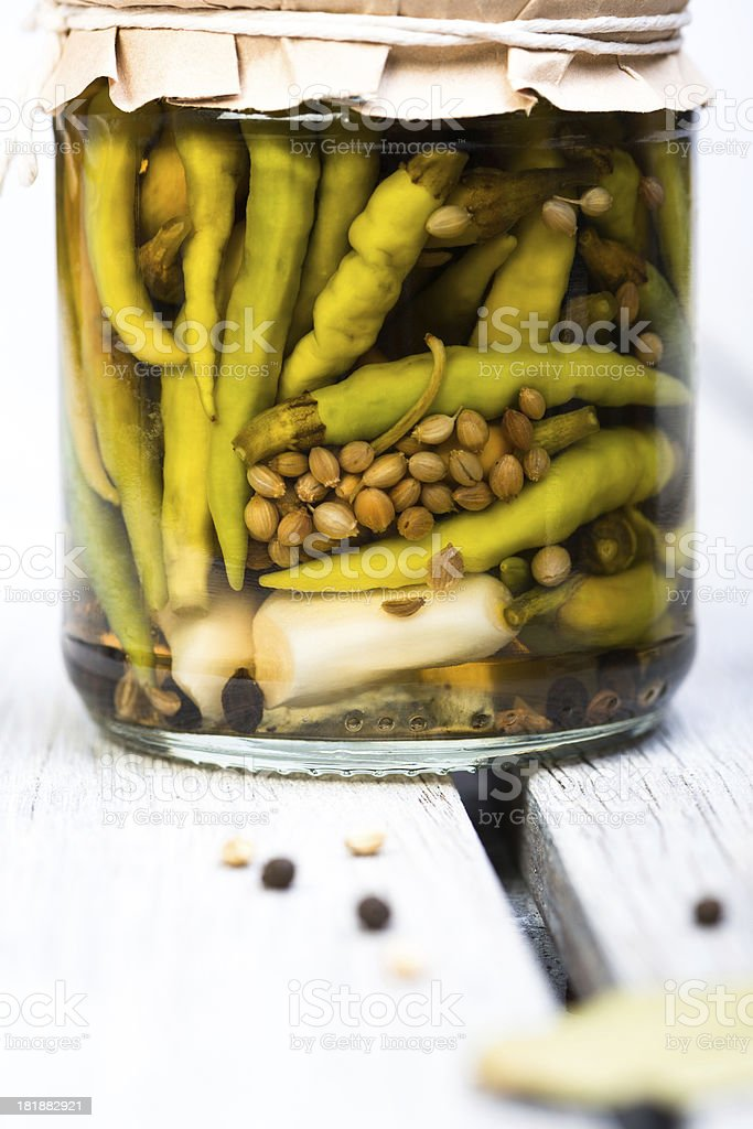 green chili pickle close up royalty-free stock photo