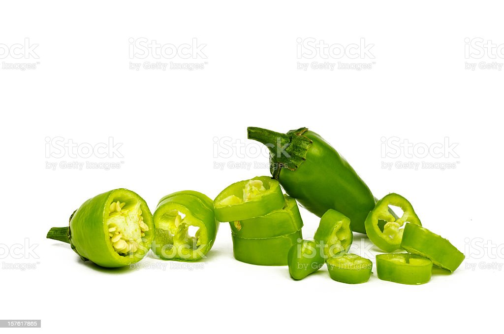 Green Chilli Peppers (Jalapeno) stock photo