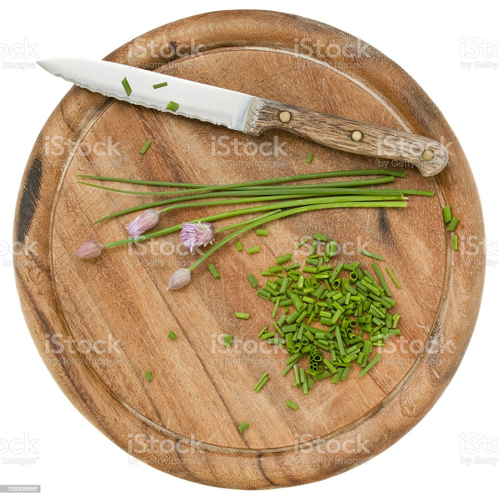 green chives chopped royalty-free stock photo
