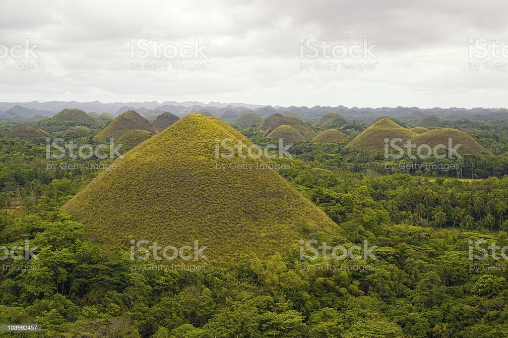 Green Chocolate Hills stock photo