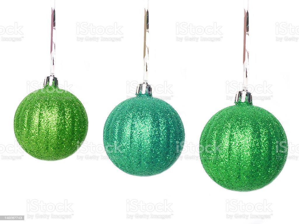 Bolas de Natal Verde sobre fundo branco foto de stock royalty-free