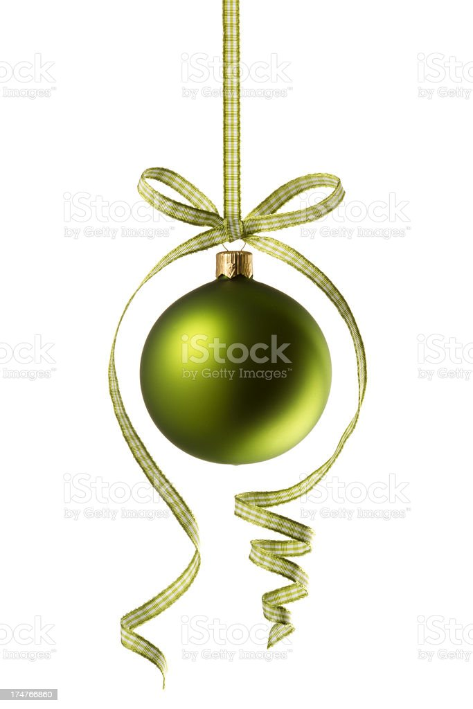 Green Christmas Bauble royalty-free stock photo