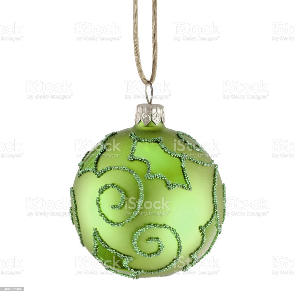 Green Christmas Bauble stock photo
