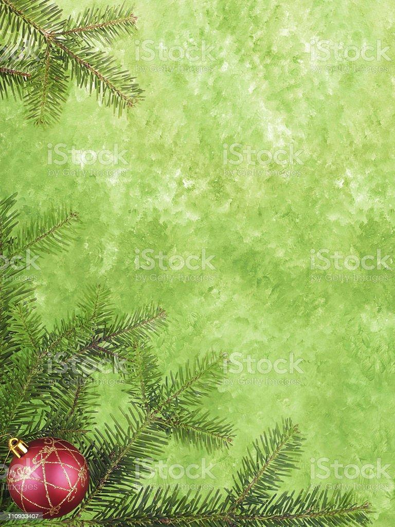 Green Christmas card royalty-free stock photo
