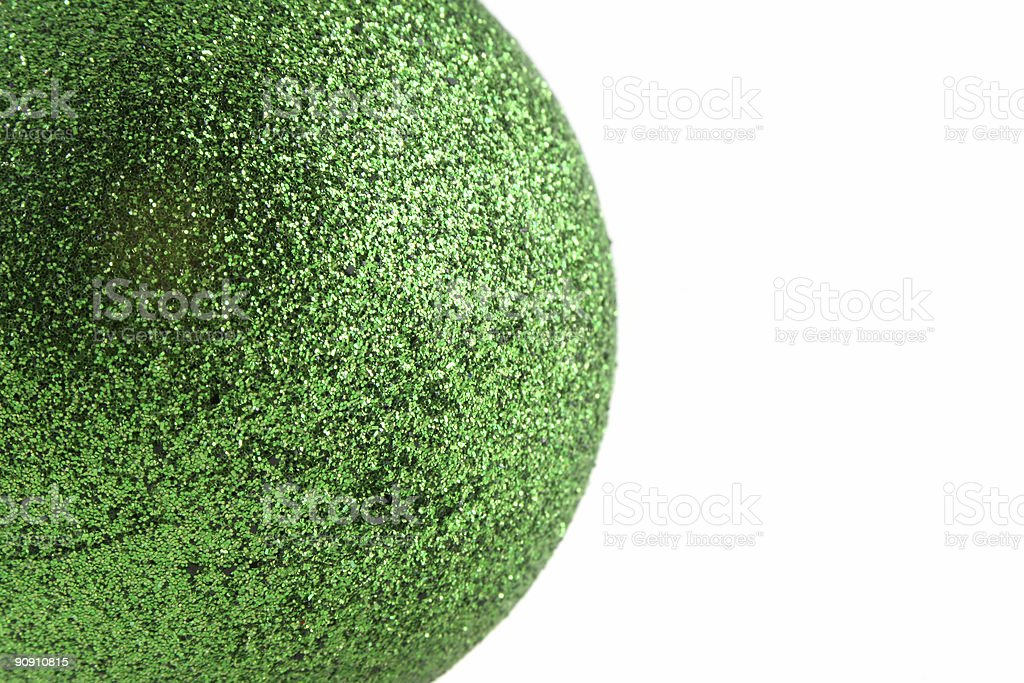 Green Christmas Decoration With Copy Space stock photo