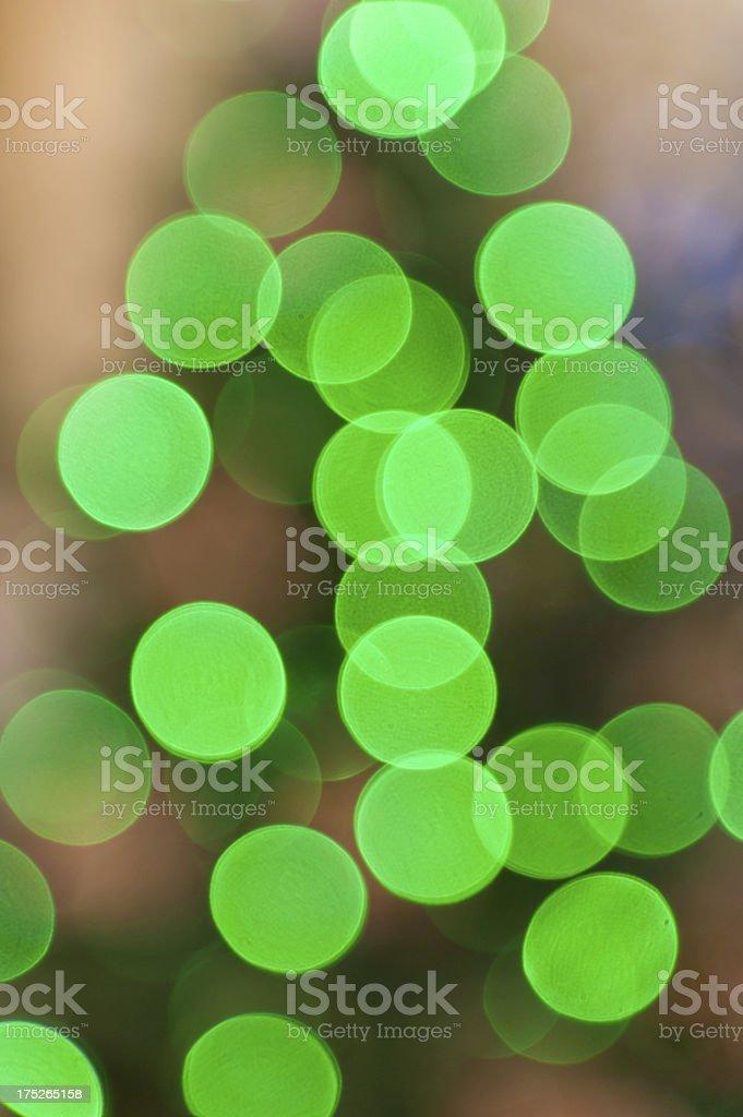 Green Christmas Lights royalty-free stock photo