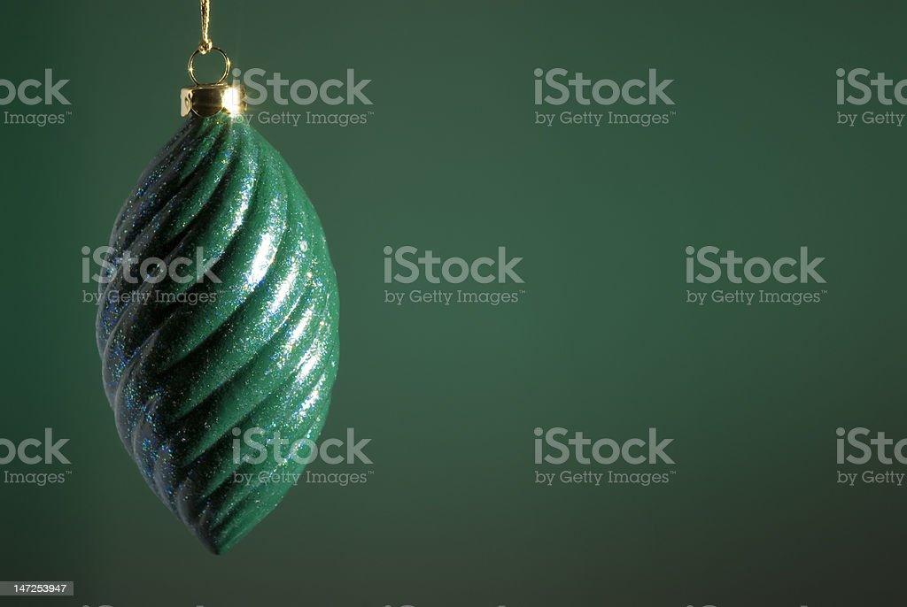 Green Christmas Ornament royalty-free stock photo