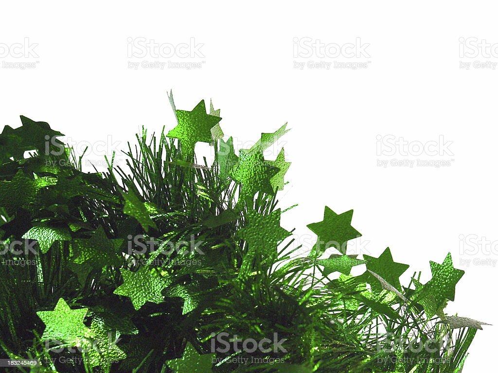 Green Christmas Tinsel royalty-free stock photo