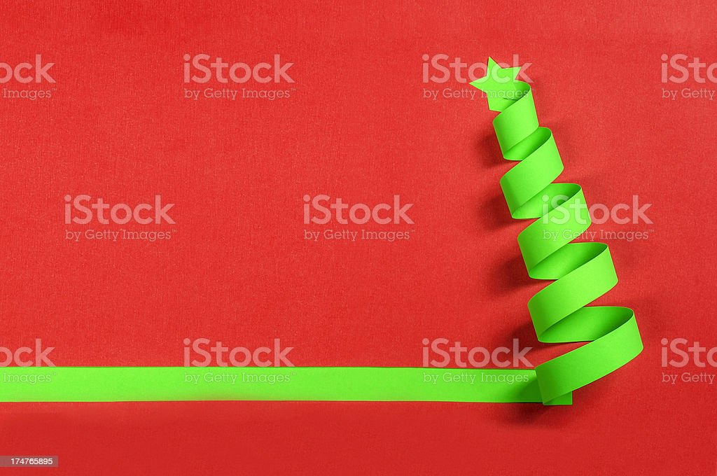 Green christmas tree royalty-free stock photo