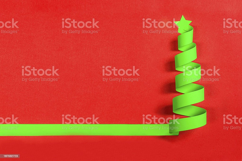 Green christmas tree royalty-free stock photo