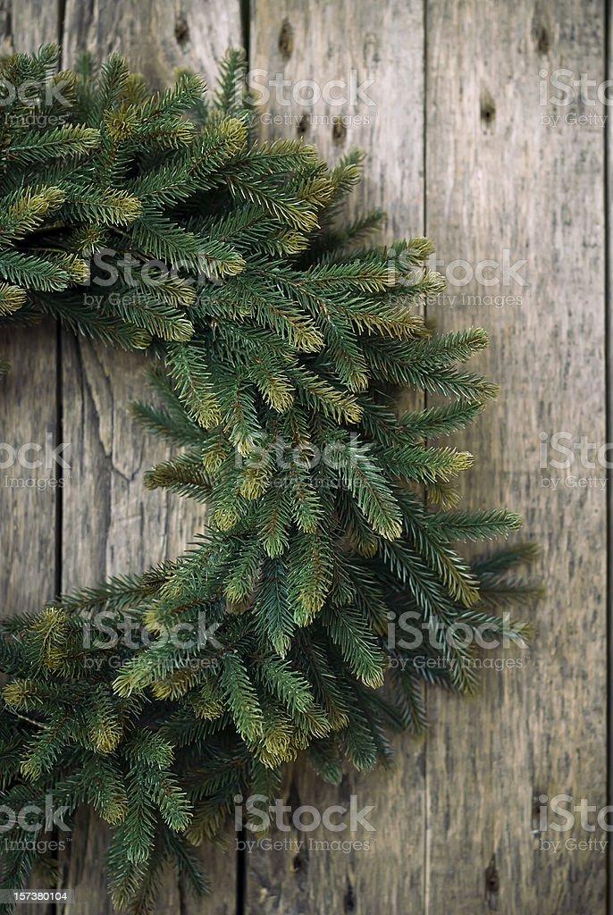 Green Christmas Wreath royalty-free stock photo
