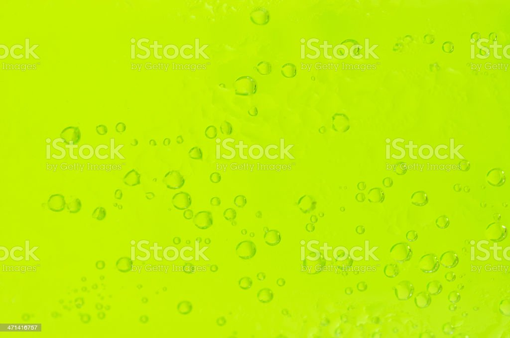 Green cider with bubbles stock photo
