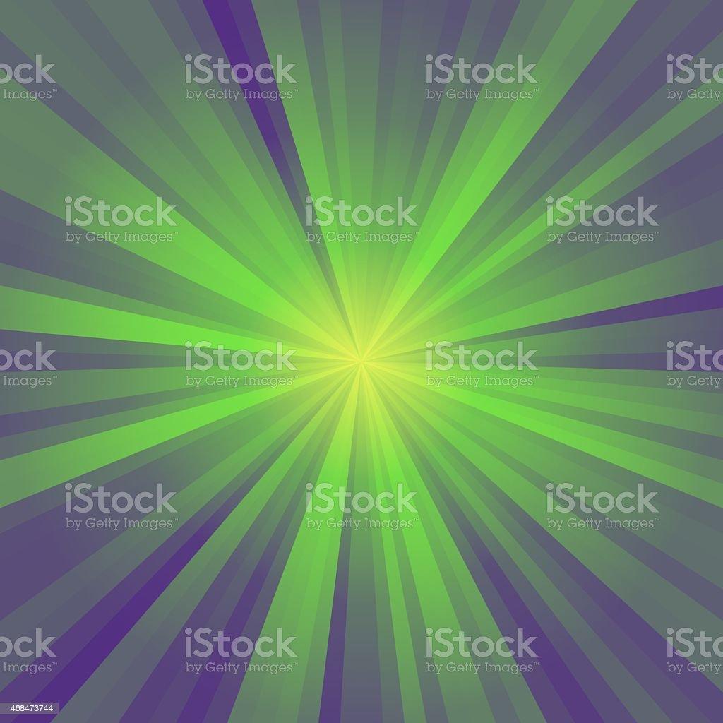 Green circle rays stock photo