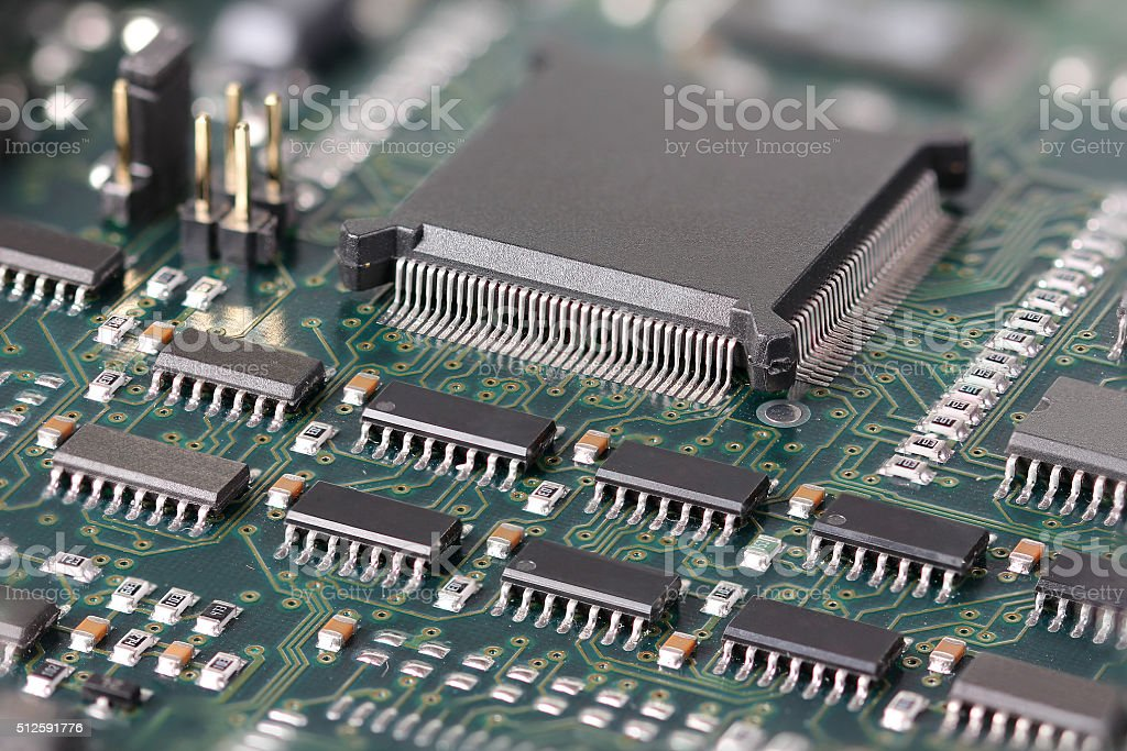 Green Circuit board stock photo