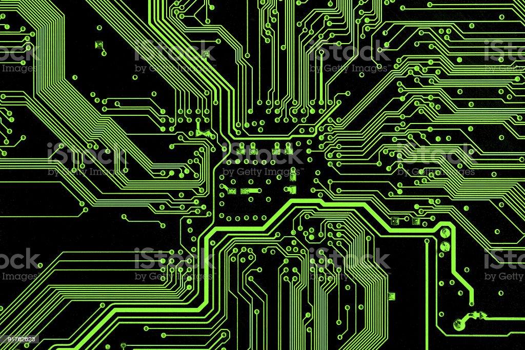 Green circuit board royalty-free stock photo