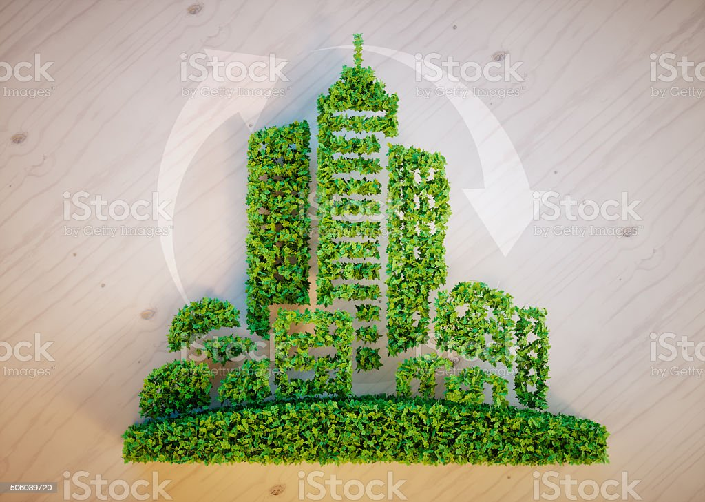 Green city concept stock photo
