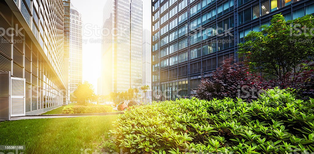 Green city park in Shanghai, China stock photo