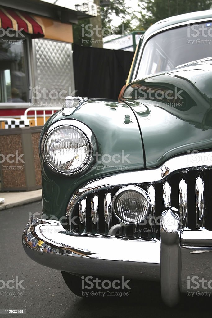 Green Classic Car stock photo