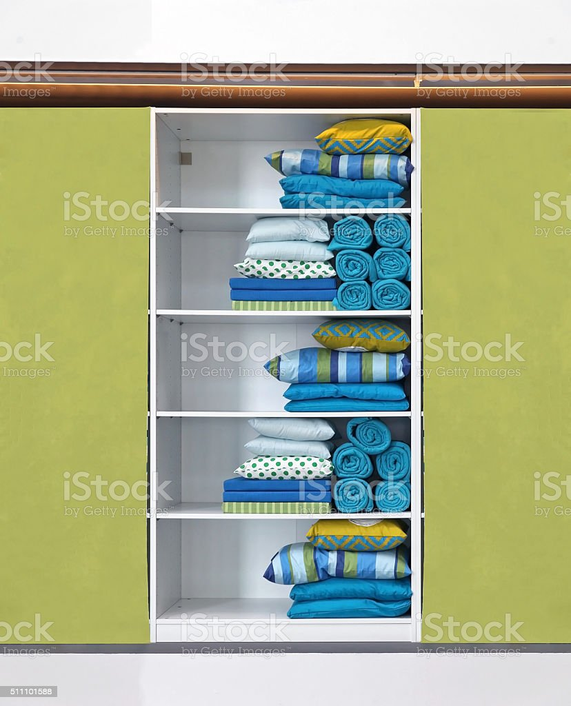 Green closet stock photo