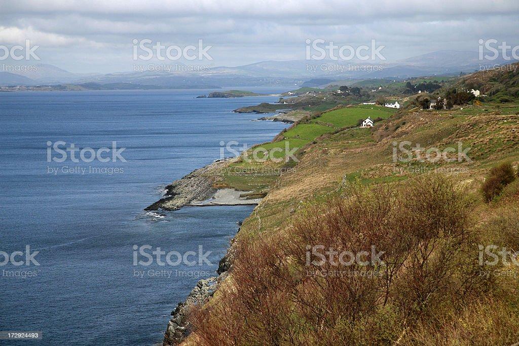 A green coastline, County Cork, Ireland. royalty-free stock photo