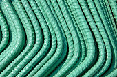 Green Coated Reinforcing Rods
