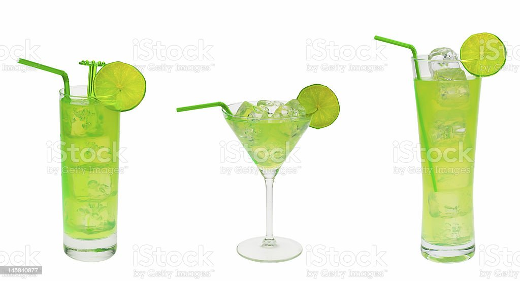 green cocktail collection royalty-free stock photo