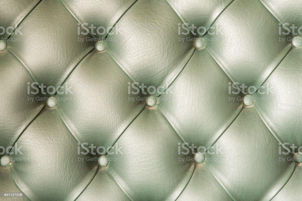 Green color sofa texture. stock photo