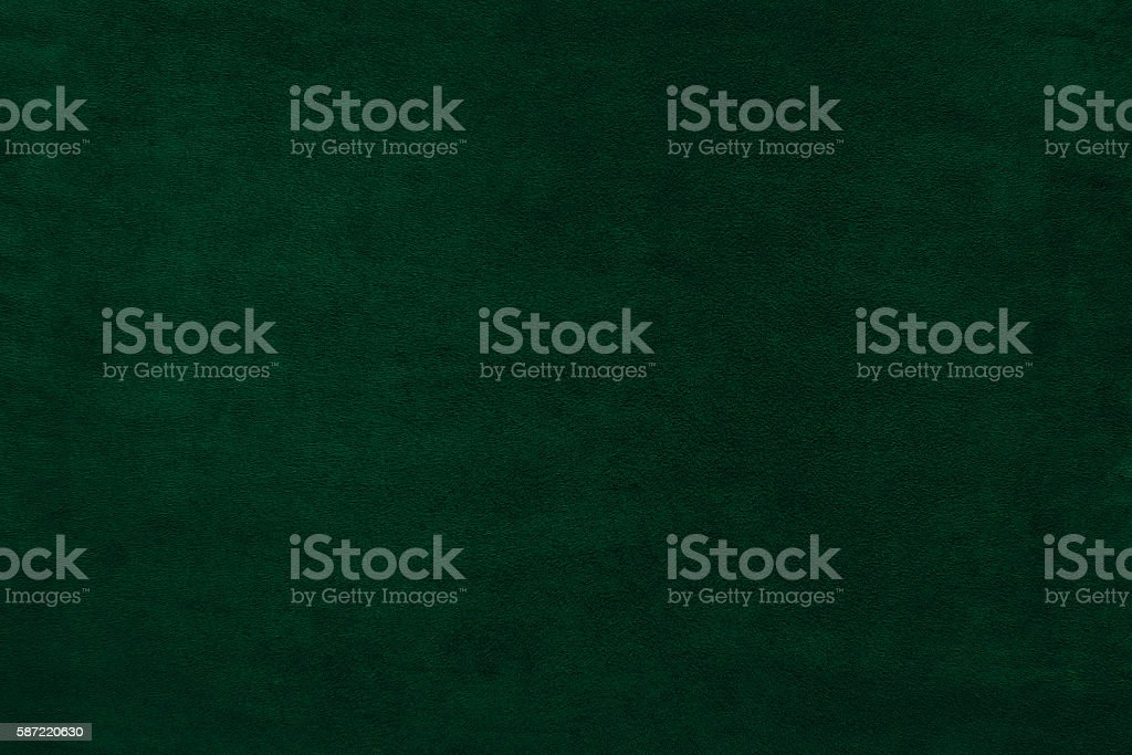 Green color velvet texture background stock photo