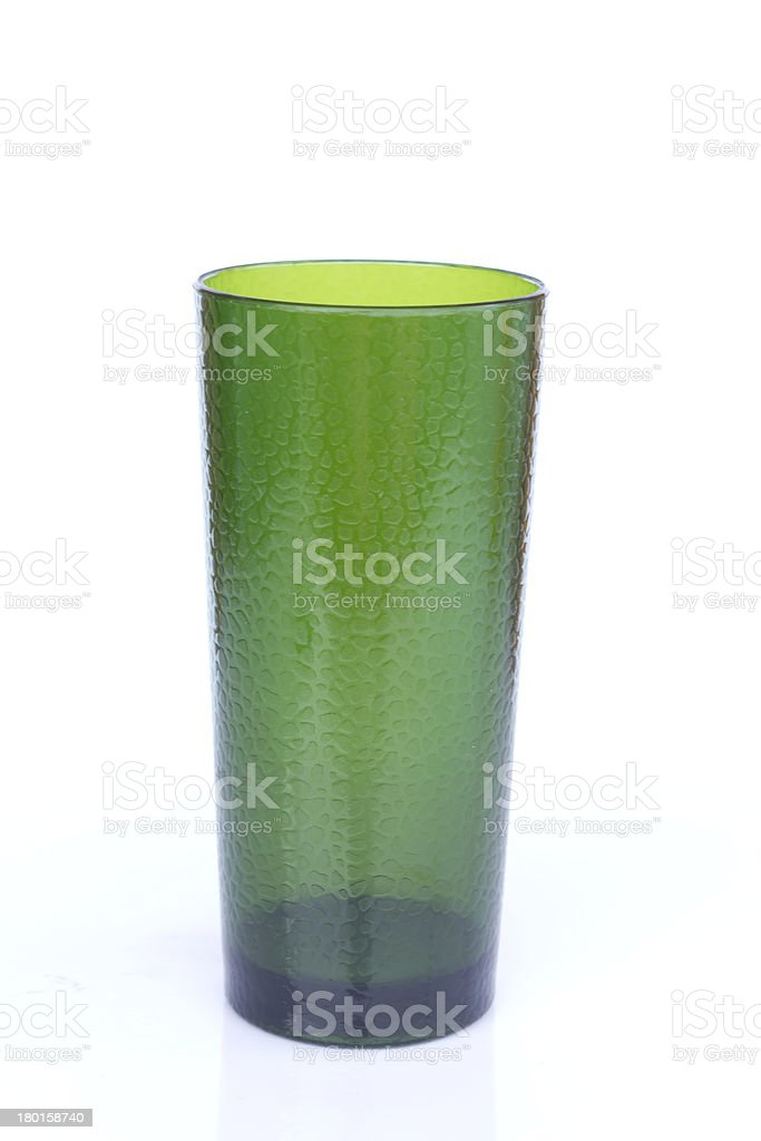 Green colour glass. royalty-free stock photo