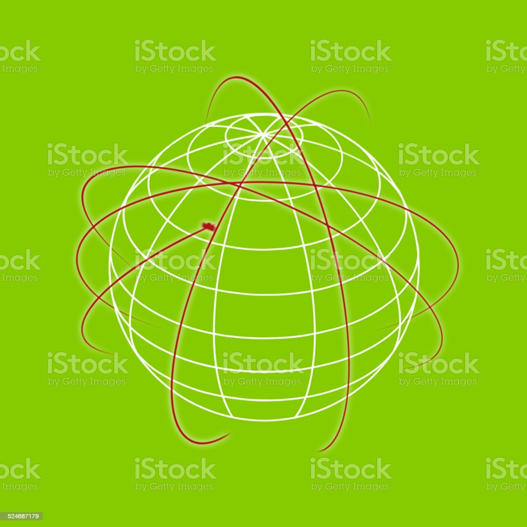 Green Coloured futuristic background with lines stock photo