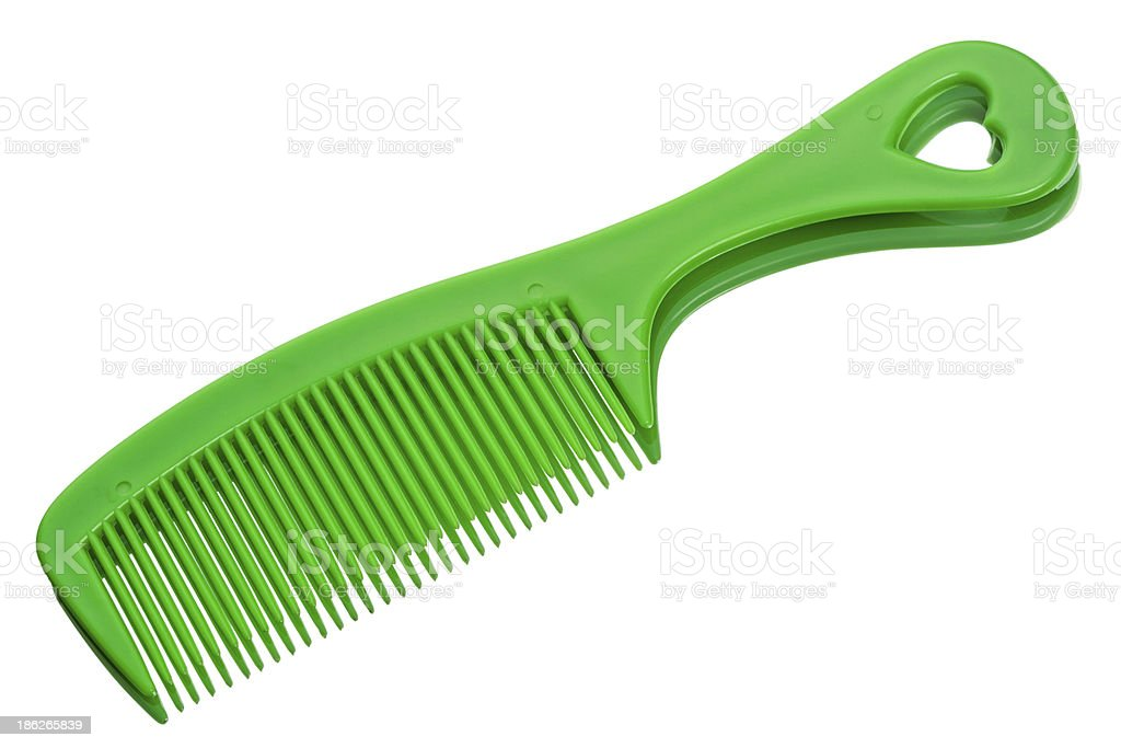 Green comb royalty-free stock photo