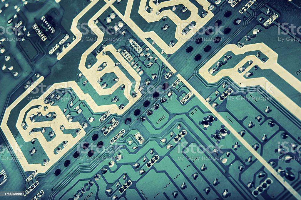 green computer circuit royalty-free stock photo