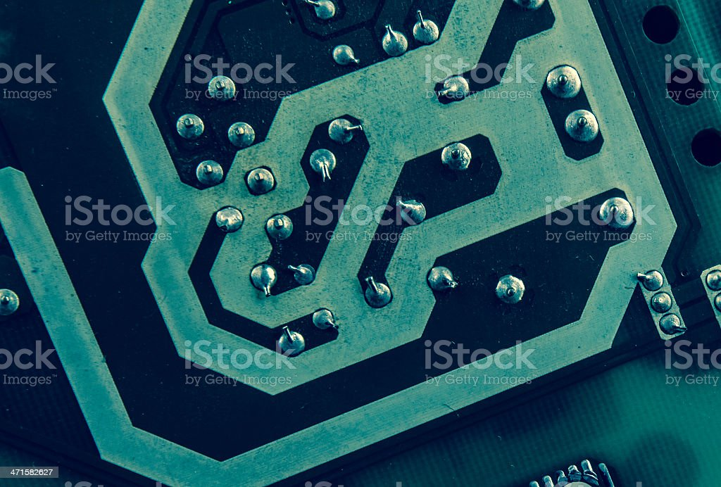 green computer circuit royalty-free stock photo