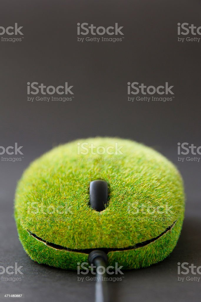 green computer mouse. royalty-free stock photo