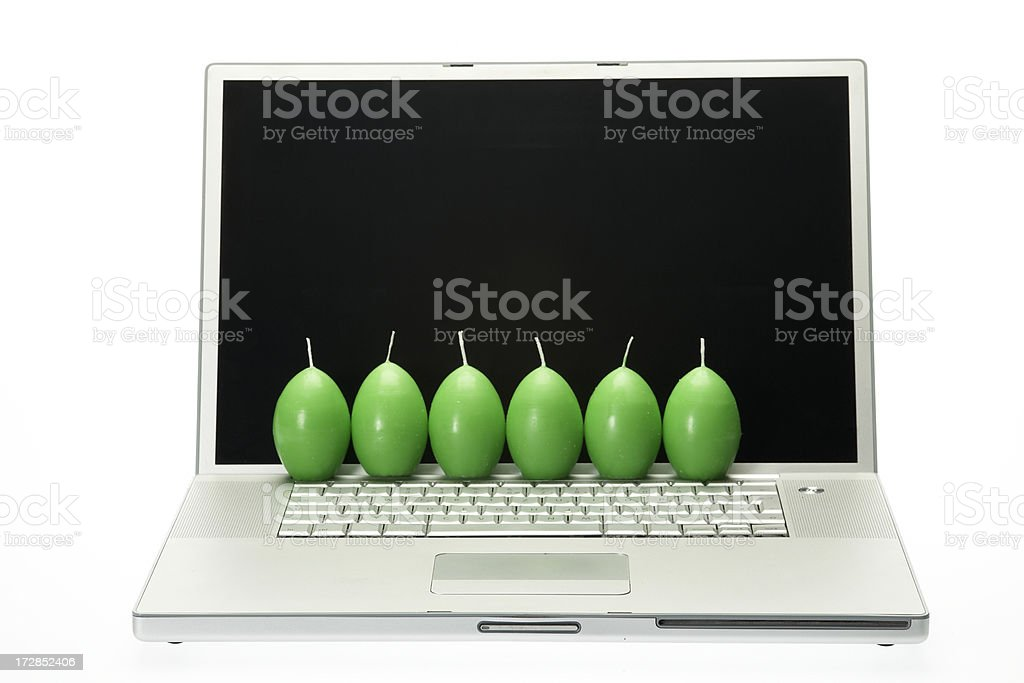 Green computer royalty-free stock photo
