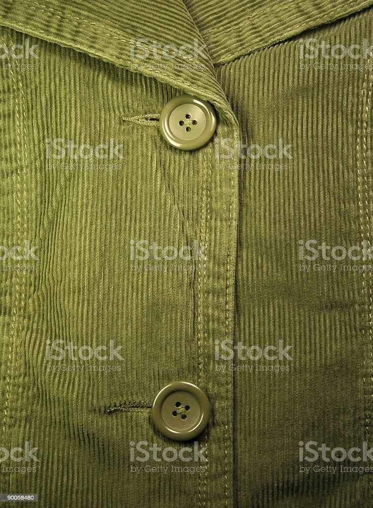 Green corduroy 5 royalty-free stock photo