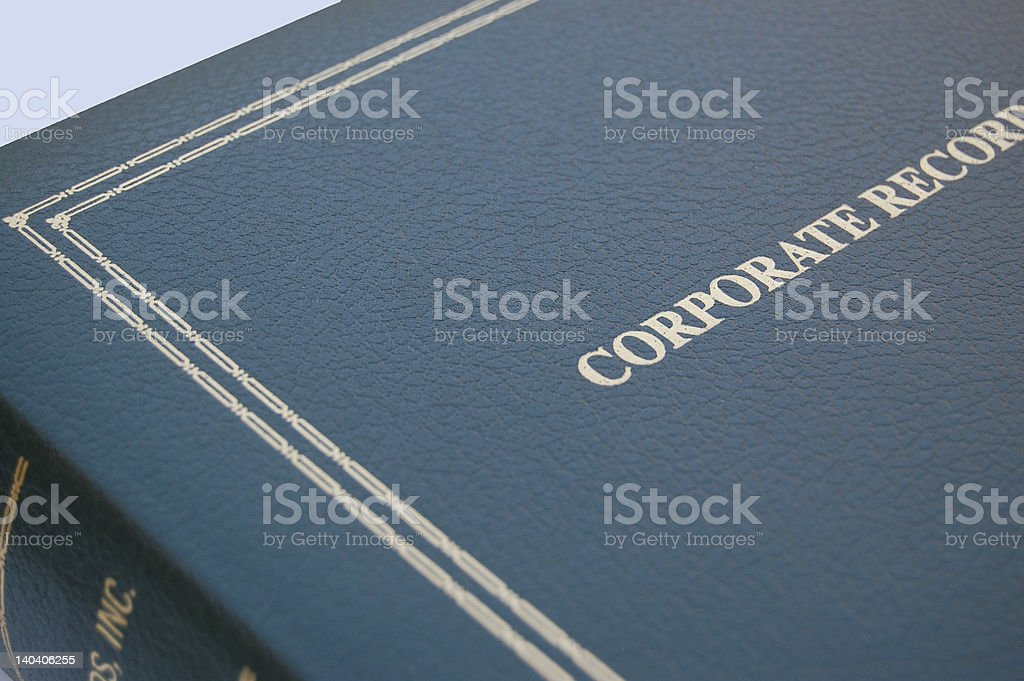Green Corporate Book royalty-free stock photo