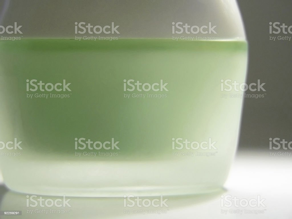 Green cosmetic container royalty-free stock photo