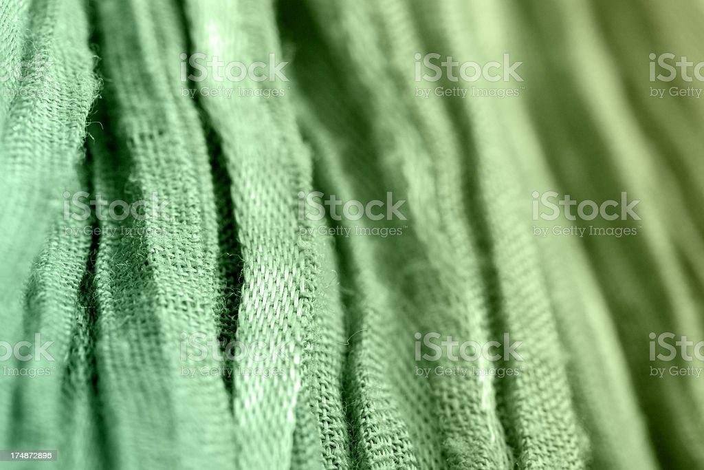 Green Cotton Stripes royalty-free stock photo